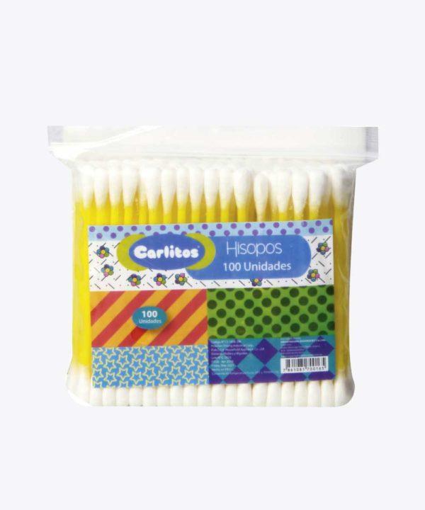 Carlitos Hisopos Funda Plastico X 100