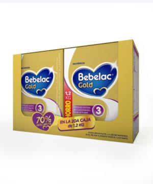 Pack Bebelac Gold 3 1200 Gr ( 2do Al 70% )