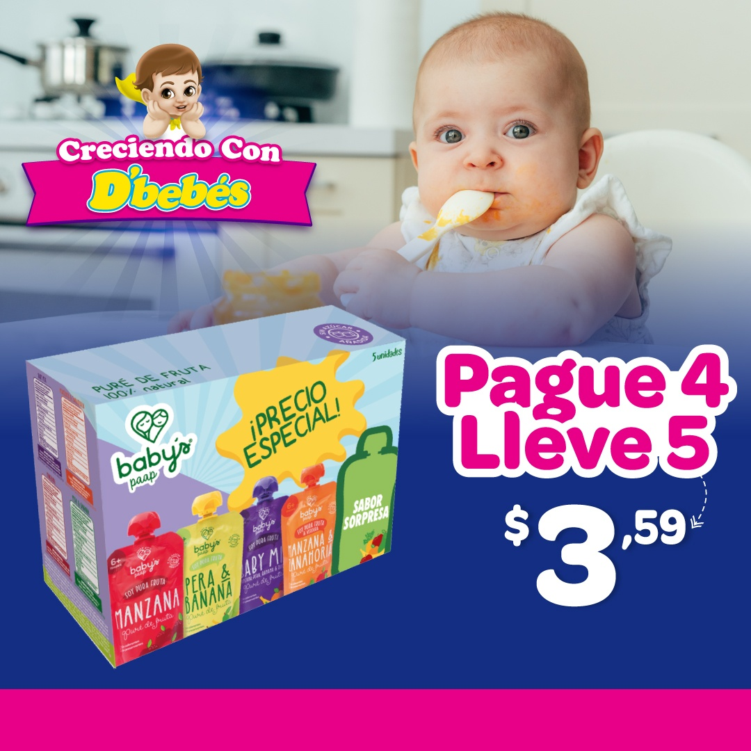 PACK BABYS PAAP SURTIDO PAGUE 4 LLEVE 5