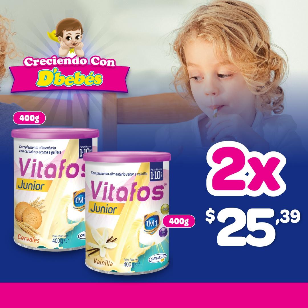 PACK VITAFOS JUNIOR 400 GR 2DO AL 80